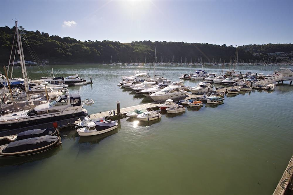 Views over the River Dart from the living area at 22 Dart Marina in , Dartmouth