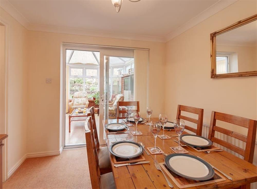 Dining room at 24 Steed Close in , Paignton