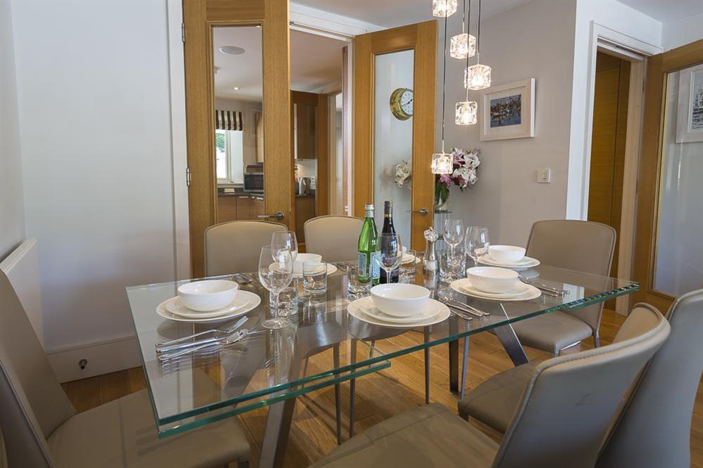 Glass dining table seating up to 6 guests (photo 2) at 28 Dart Marina in , Dart Marina