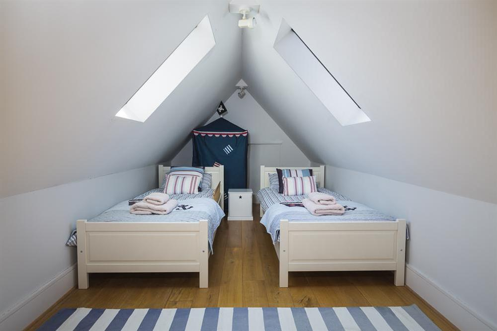 Second floor junior 'suite' with twin single beds (for children only) at 28 Dart Marina in , Dart Marina