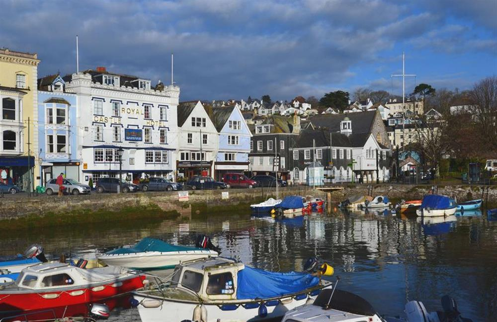 The boat pool and historic waterfront buildings in Dartmouth at 2A Mayflower Court, Dartmouth