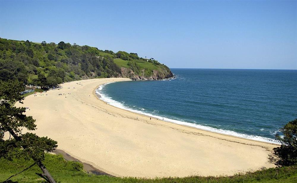 The great family beach at Blackpool sands, 3 miles from the apartment at 2A Mayflower Court, Dartmouth