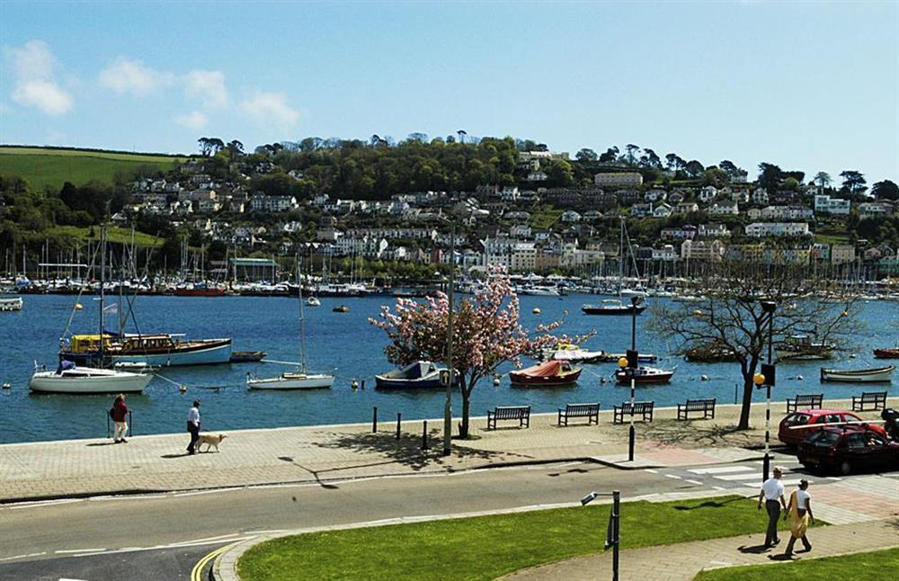 The wonderful views from the apartment at 2A Mayflower Court, Dartmouth