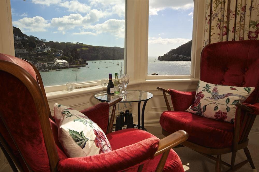 Lovely views over the River Dart from the lounge window (photo 2) at 3 Dartview in South Town, Dartmouth