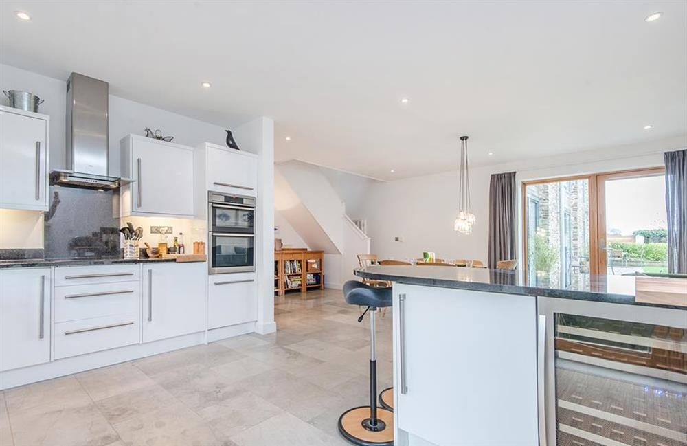 The kitchen complete with wine chiller at 3 Dufour, East Allington