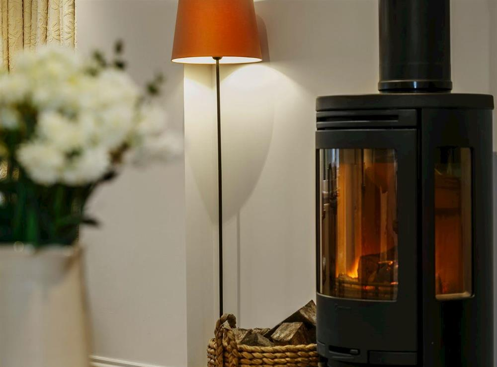 Cosy woodburner at 3 Healey Cottage in Shelley, near Huddersfield, West Yorkshire