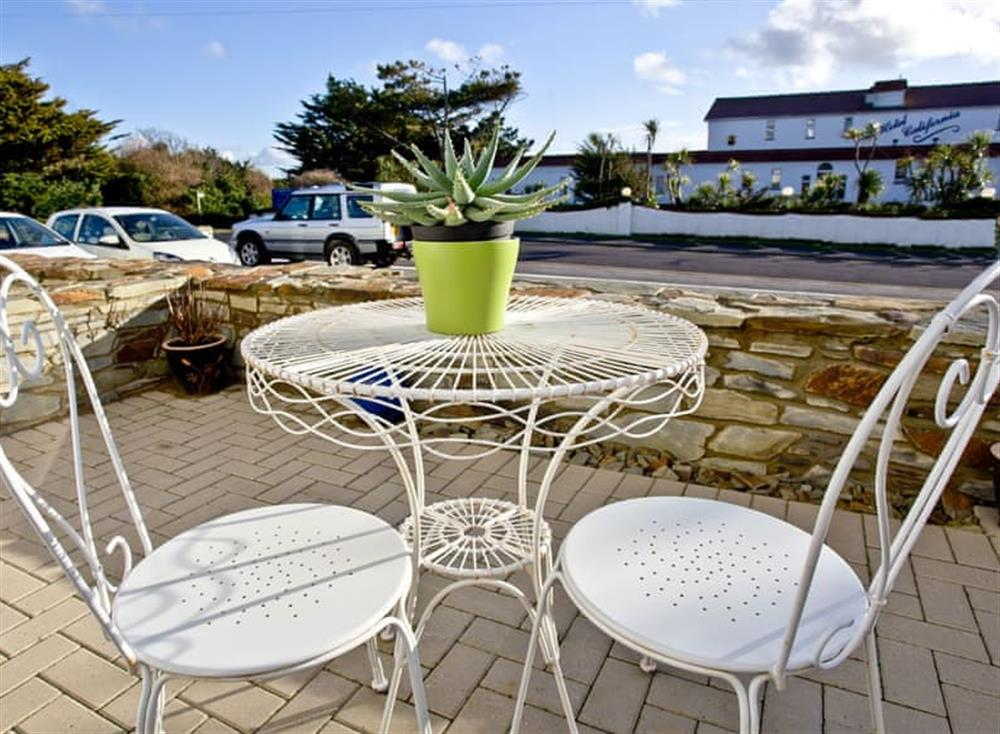 Patio at 3 Spyrys Heyl in , Newquay