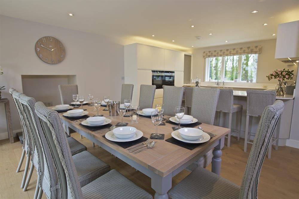 Dining table seating ten guests comfortably (photo 3) at 3 The Drive in , Hillfield, Dartmouth