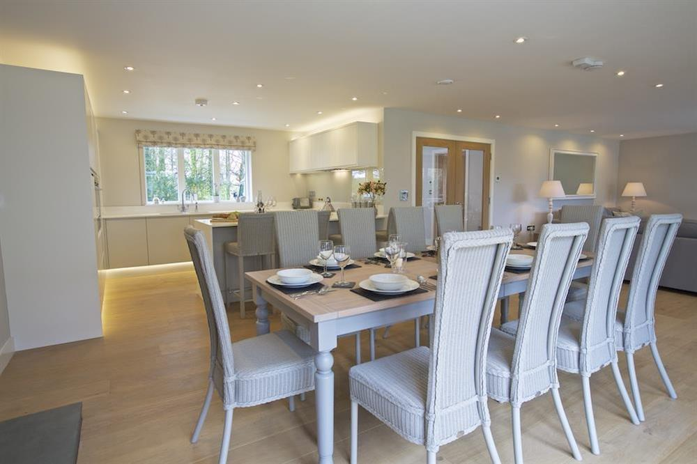 Dining table seating ten guests comfortably at 3 The Drive in , Hillfield, Dartmouth