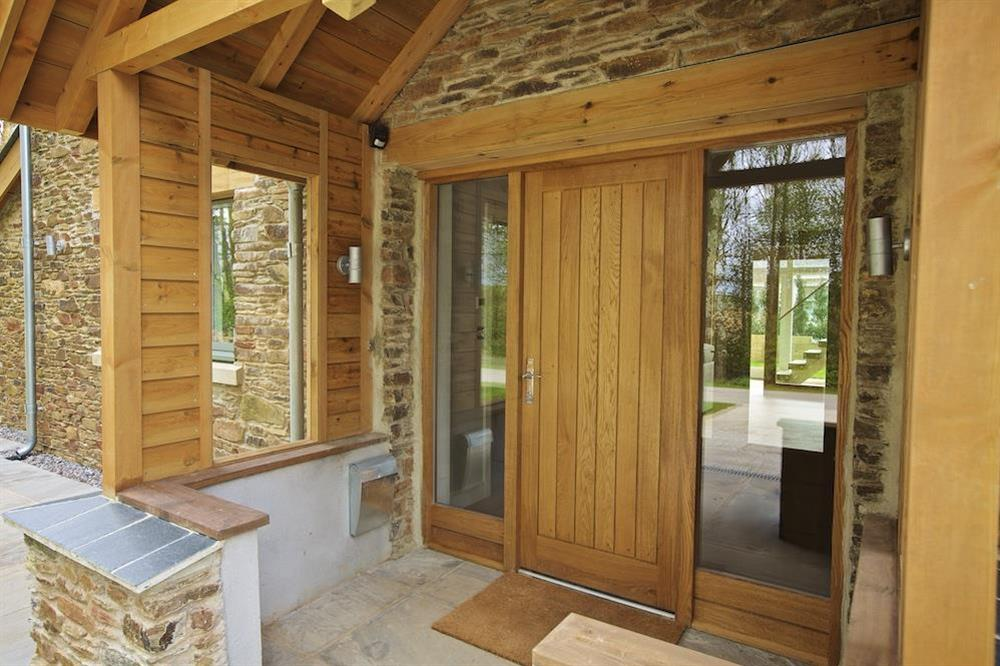 Oak-framed canopied porch at 3 The Drive in , Hillfield, Dartmouth