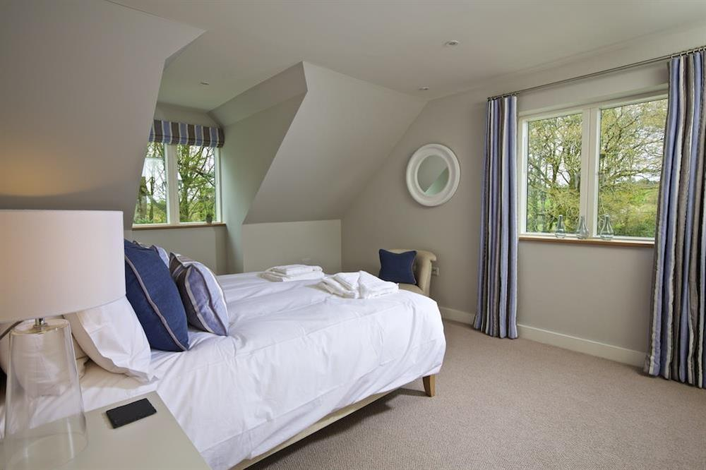 Second floor double room with a super-King size bed at 3 The Drive in , Hillfield, Dartmouth
