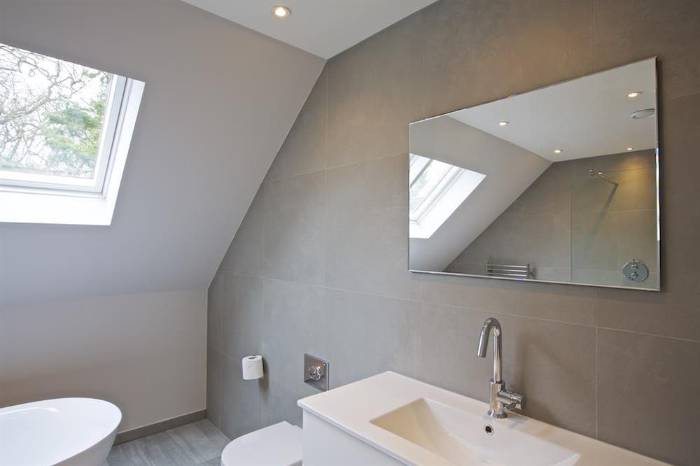 Second floor family bathroom with freestanding bath at 3 The Drive in , Hillfield, Dartmouth