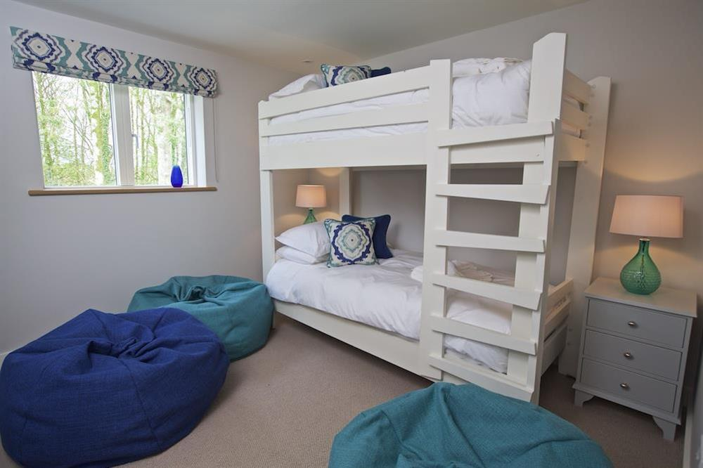 Spacious childrens bedroom/TV room with full-size bunk beds at 3 The Drive in , Hillfield, Dartmouth