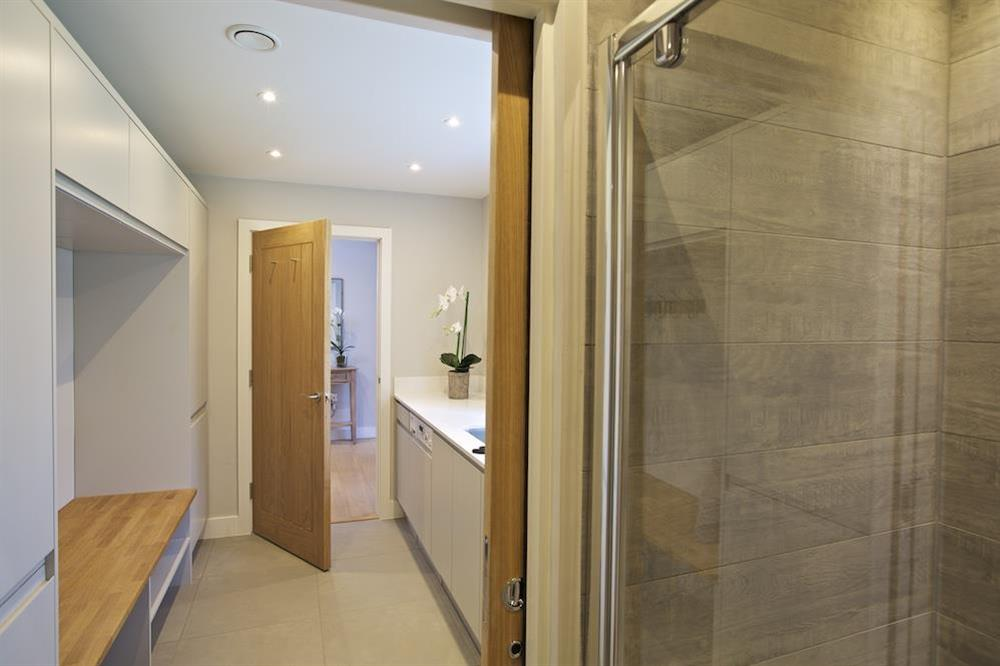 Utility room leading to the shower room at 3 The Drive in , Hillfield, Dartmouth