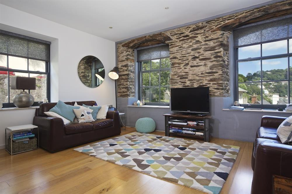 Spacious living area with views over Warfleet Creek (photo 4) at 3 The Pottery in , Dartmouth