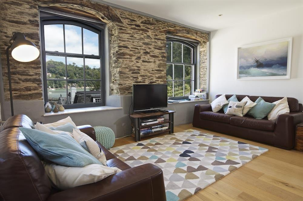 Spacious living area with views over Warfleet Creek at 3 The Pottery in , Dartmouth