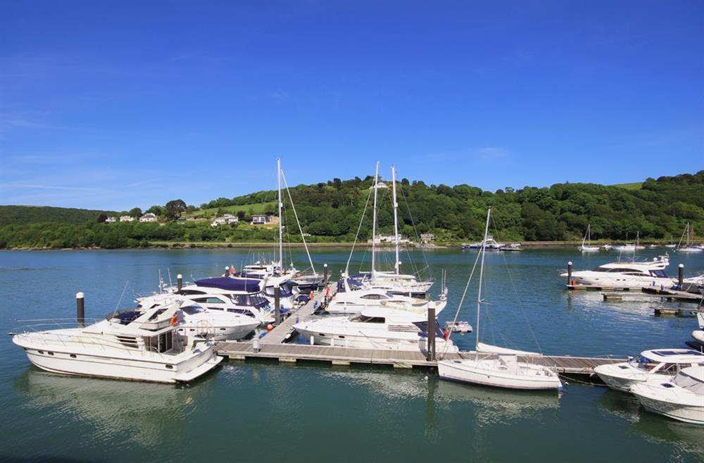 Stunning river views from the lounge/dining area at 32 Dart Marina in Dart Marina, Dartmouth