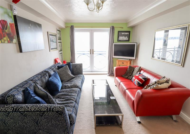 The living room at 342 South Ferry Quay, Liverpool