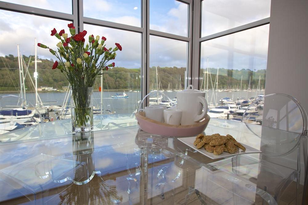 Enjoy afternoon tea whilst taking in the stunning views over the River Dart at 35 Dart Marina in Sandquay Road, Dartmouth