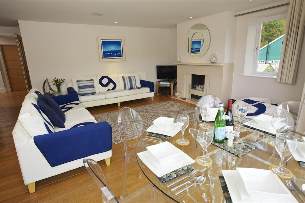 Lounge and dining area at 35 Dart Marina in Sandquay Road, Dartmouth