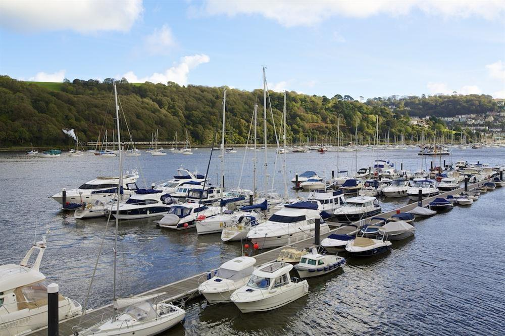 Lovely views up and down the river and across to Kingswear from the lounge at 35 Dart Marina in Sandquay Road, Dartmouth