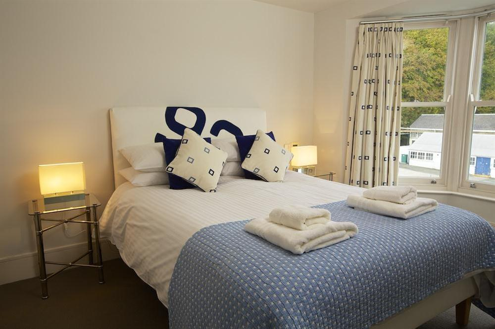 Master bedroom with lovely views up the River Dart and en suite bathroom at 35 Dart Marina in Sandquay Road, Dartmouth