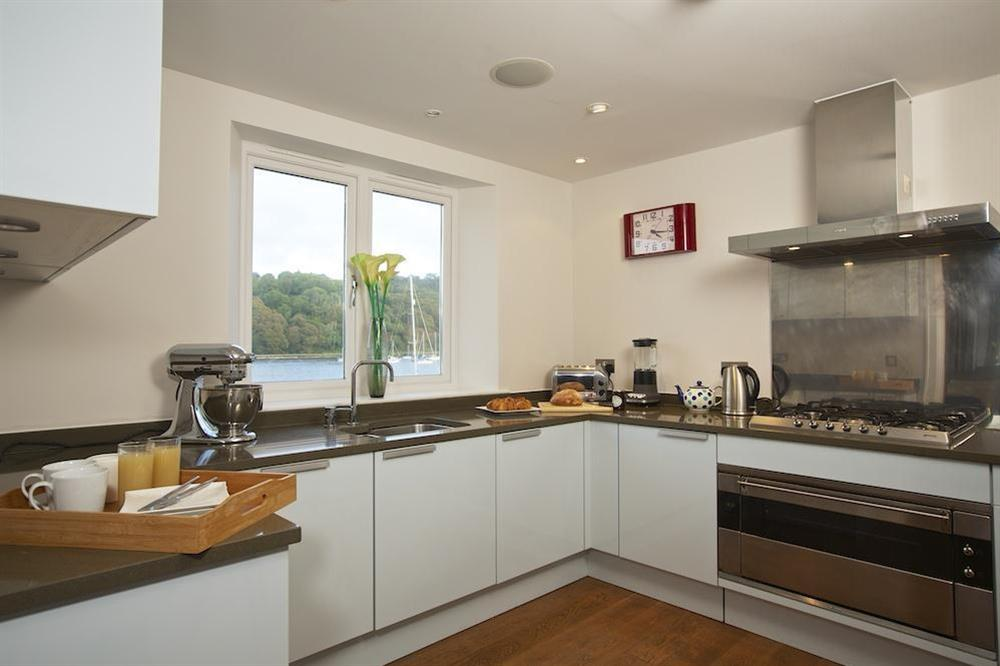 Stunning, state-of-the art kitchen with Poggenpohl units at 35 Dart Marina in Sandquay Road, Dartmouth