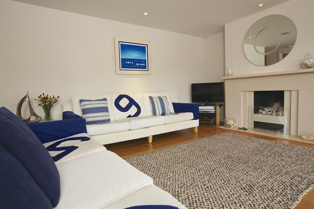 Stylishly elegant lounge at 35 Dart Marina in Sandquay Road, Dartmouth
