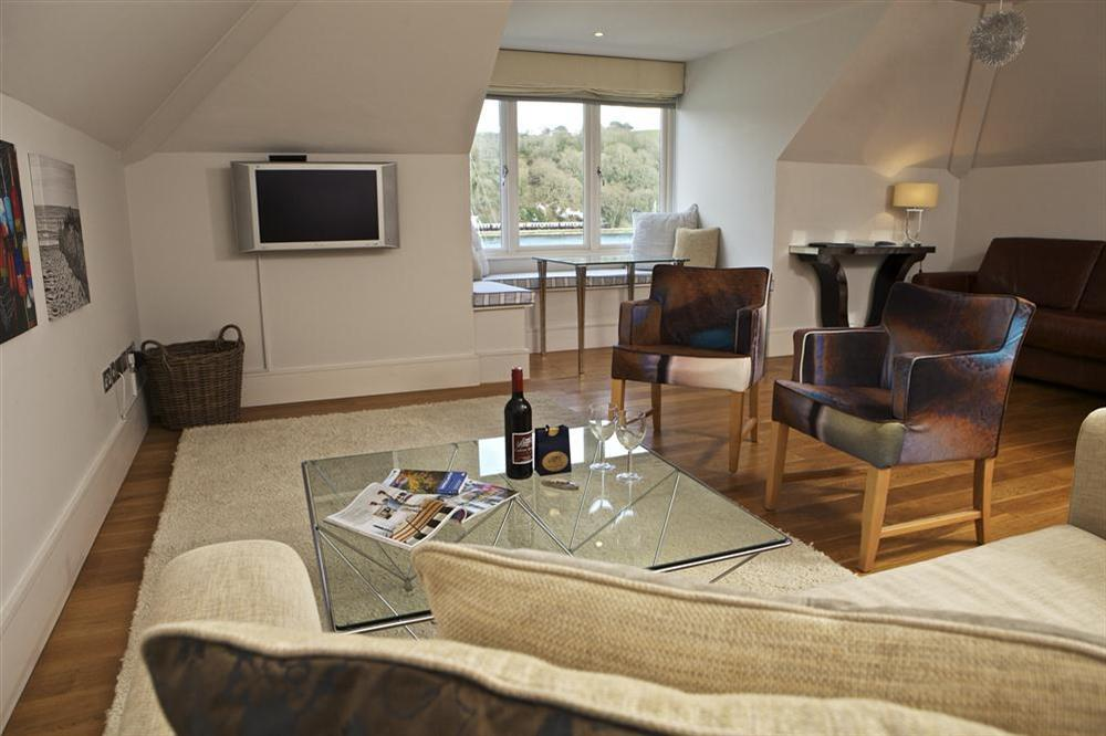 A delightful open plan room with panoramic river views at 36 Dart Marina in Sandquay Road, Dartmouth