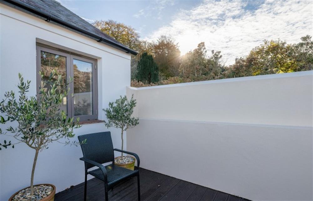 Another view of the master bedroom's private sun terrace at 4 Bouchard, East Allington