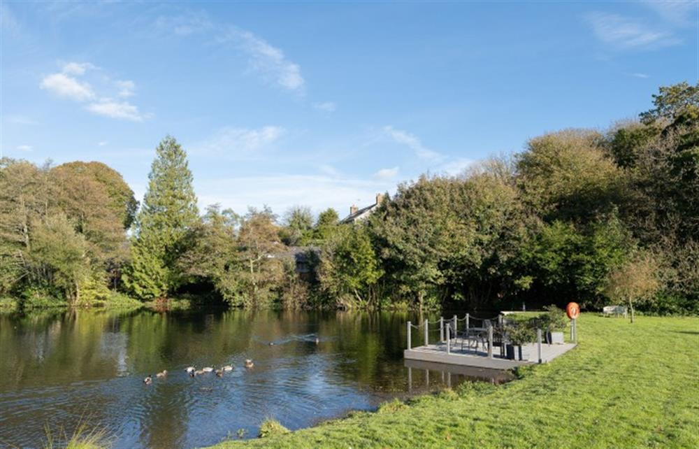 The beautiful lake forms part of the communal grounds at The Fallapit Estate at 4 Bouchard, East Allington
