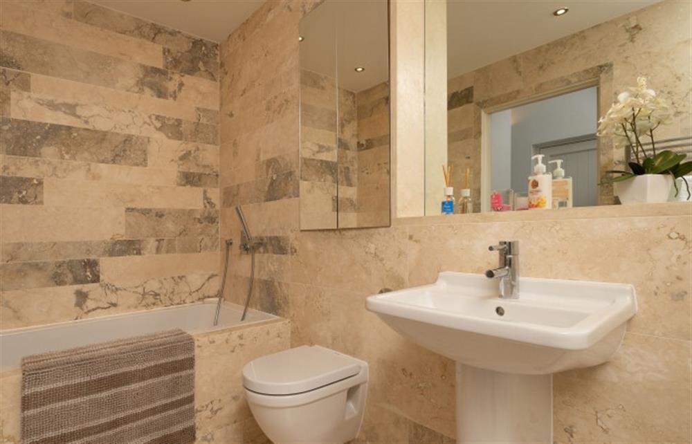 The luxurious family bathroom at 4 Bouchard, East Allington