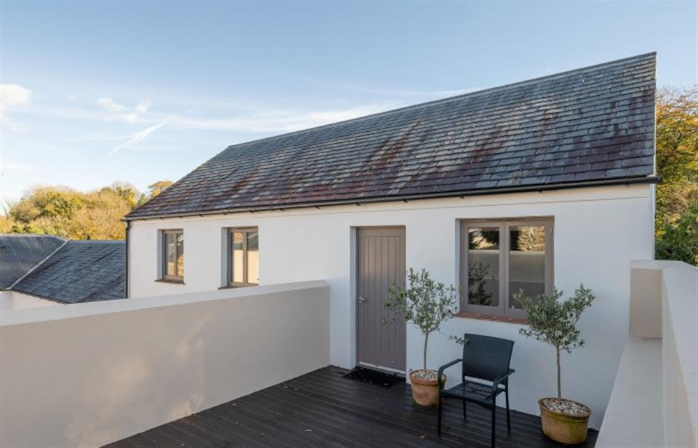 The private sun terrace accessed only from the master suite at 4 Bouchard, East Allington