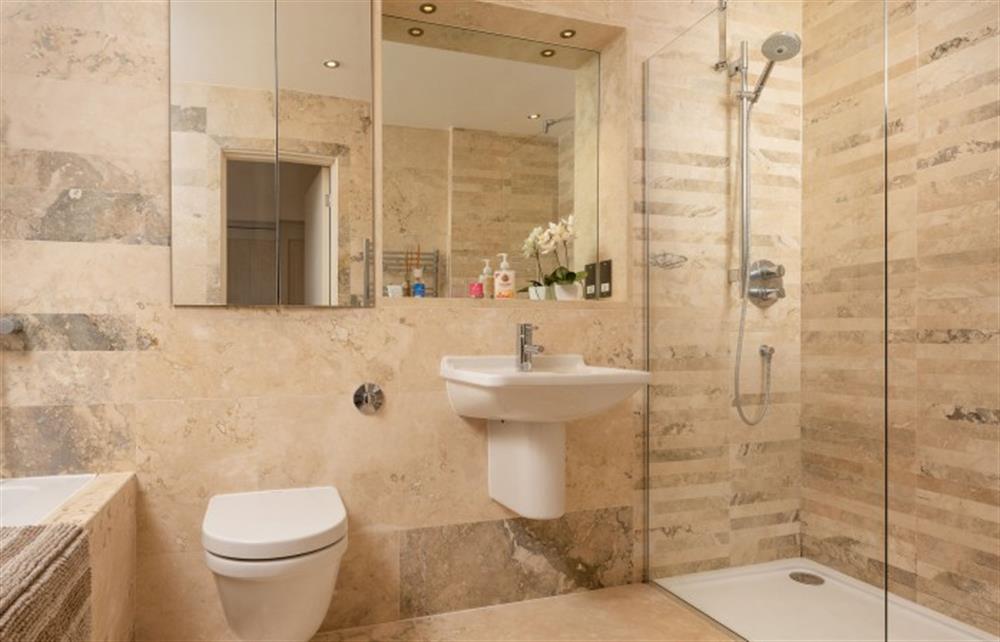 The sumptuous family bathroom at 4 Bouchard, East Allington