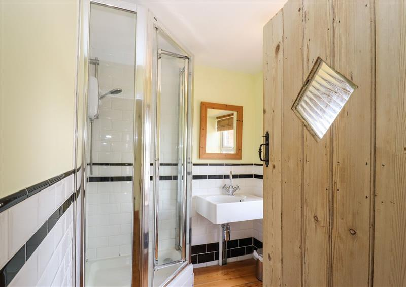 This is the bathroom at 4 Canalside Cottages, Stoke Bruerne near Roade