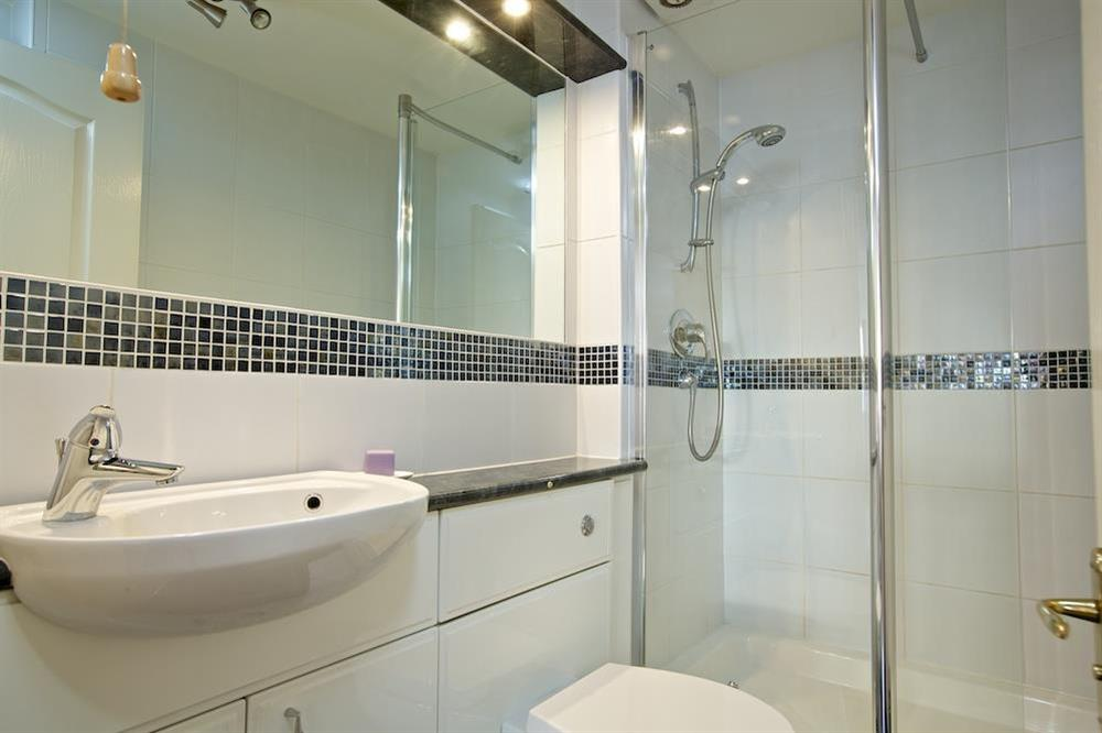 En suite bathroom with large shower cubicle at 4 Dartmouth House in , Dartmouth
