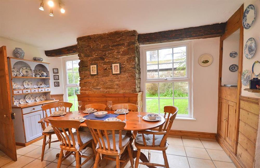 Another view of the dining area at 4 Kings Quay, Dartmouth