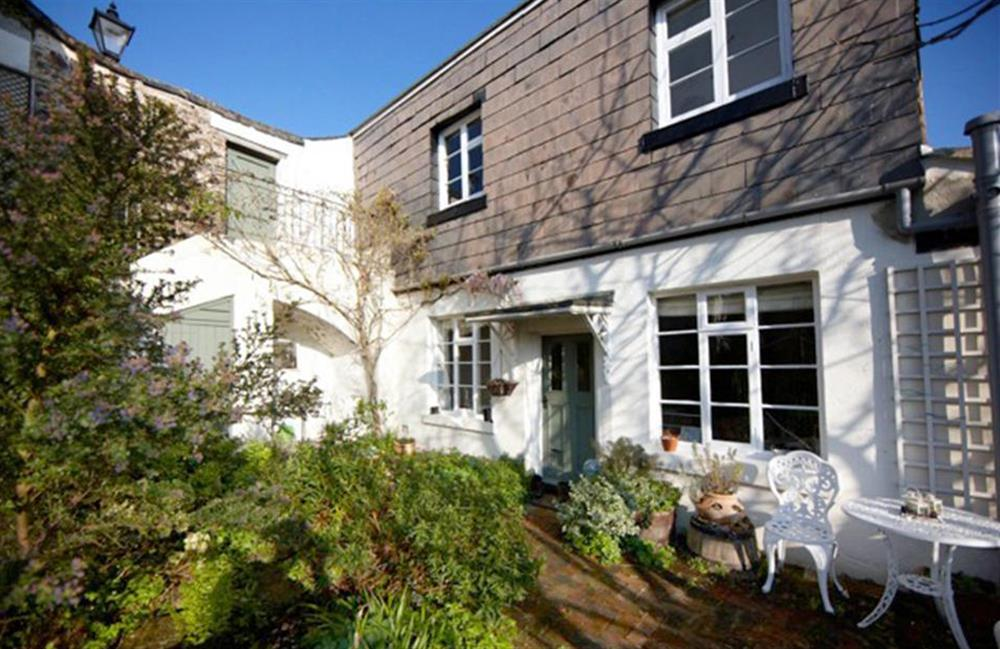4 Ramparts Walk's sunny patio at 4 Ramparts Walk, Totnes