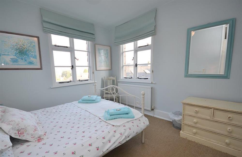 Another view of the main double bedroom - lovely views are enjoyed from its 2 windows at 4 Ramparts Walk, Totnes