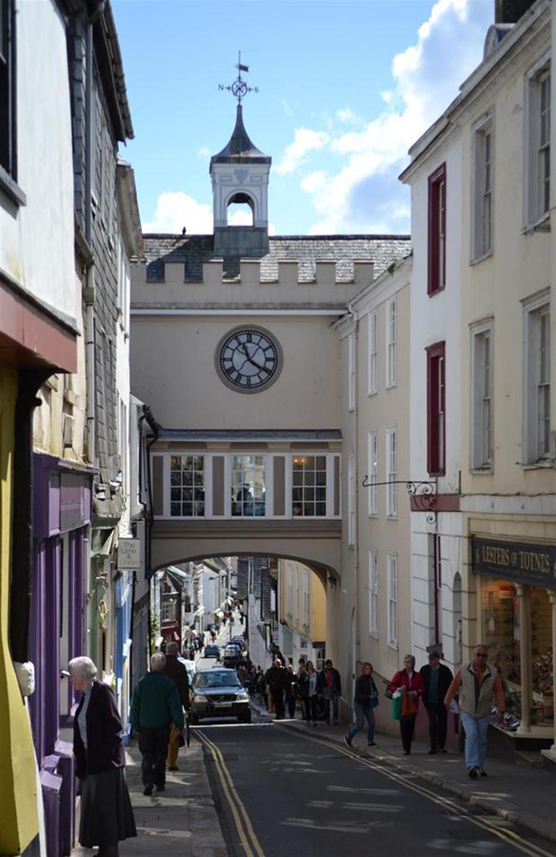 Totnes Clock tower at 4 Ramparts Walk, Totnes