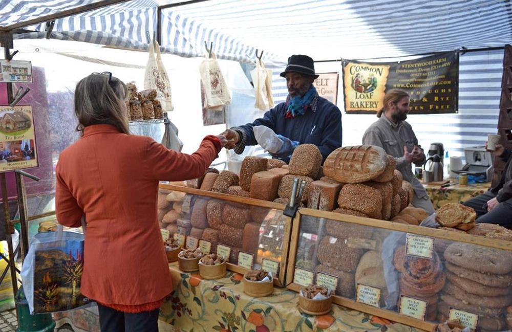 Totnes farmers market offers delicious local fayre at 4 Ramparts Walk, Totnes