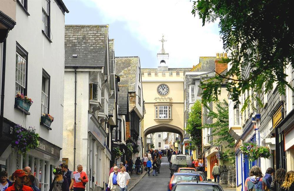 Totnes High Street - full of independant shops and restaurants at 4 Ramparts Walk, Totnes