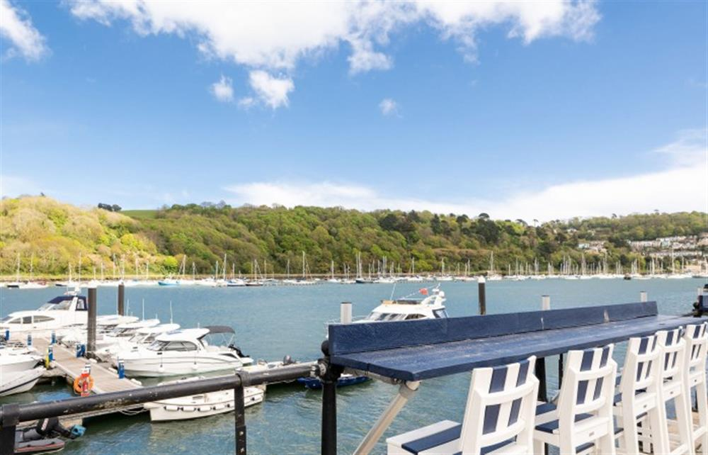 Enjoy watching the river from the grounds of the Dart Marina. at 40 Dart Marina, Dartmouth