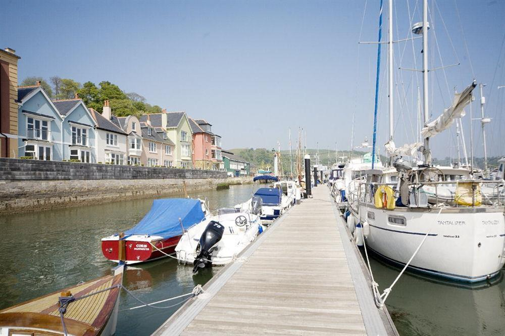Dart Marina pontoon and the River Dart