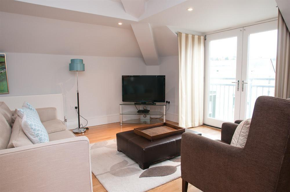 Delightful open plan lounge area with views towards the river and Kingswear (photo 2) at 45 Dart Marina in , Dart Marina