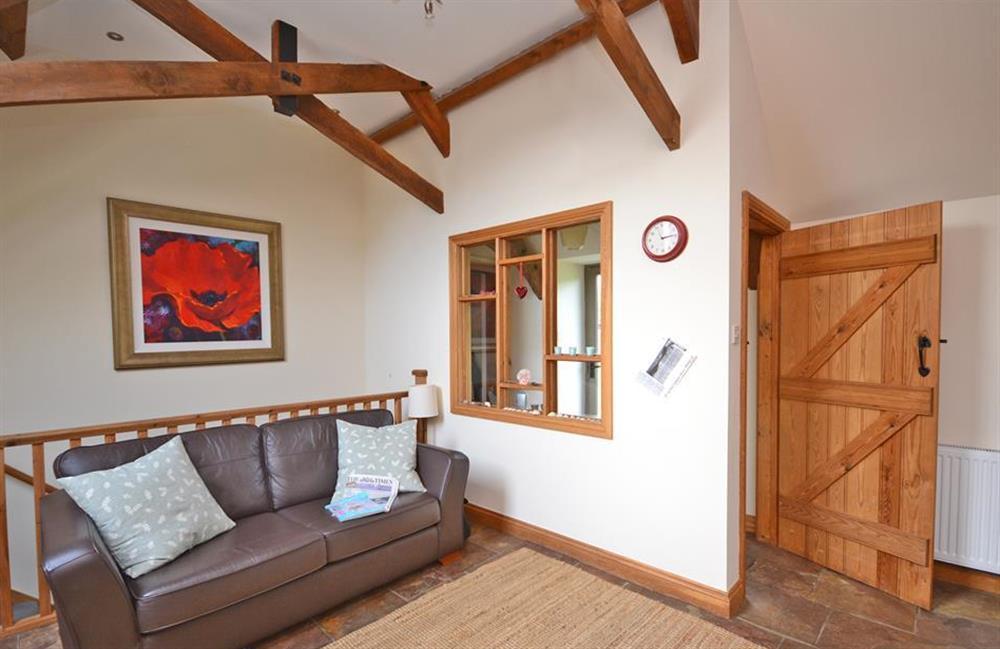 Comfy sofa in the kitchen! at 5 West Hartley Barns, Blackawton