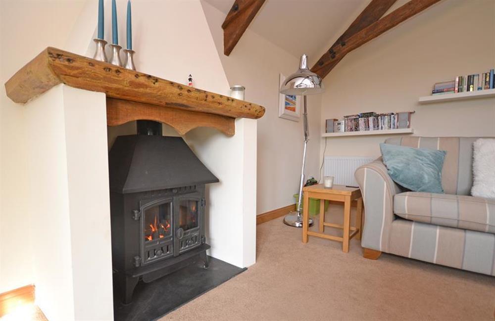Snuggle up infront of the gas effect log burner at 5 West Hartley Barns, Blackawton