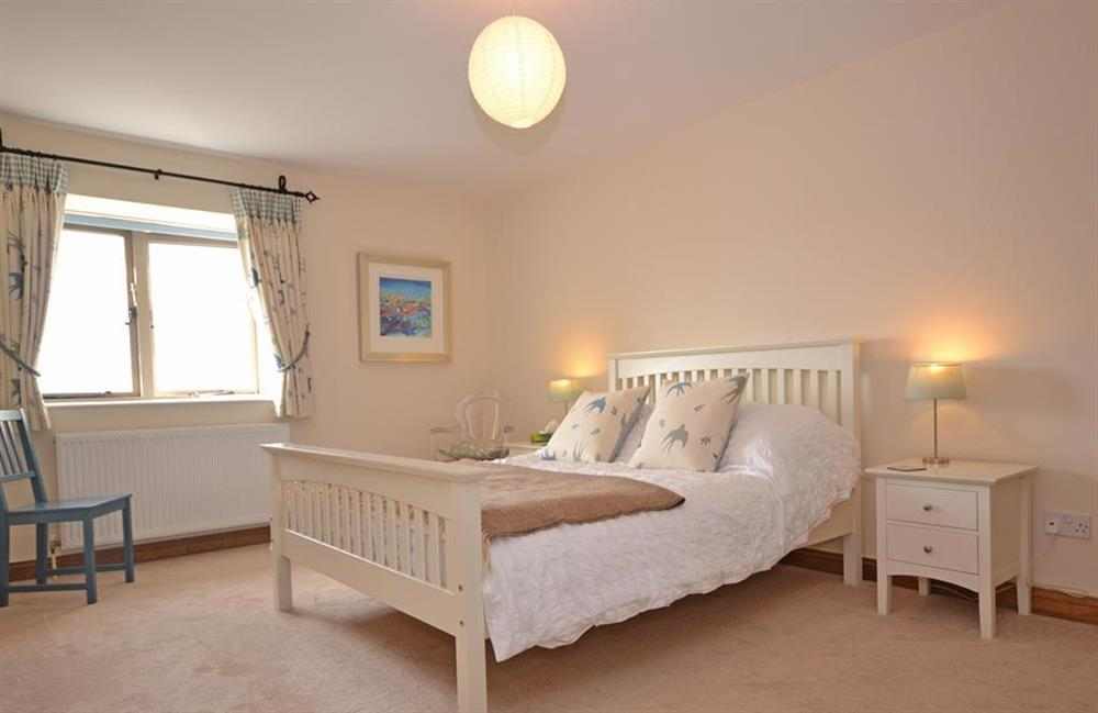 The spacious master bedroom at 5 West Hartley Barns, Blackawton