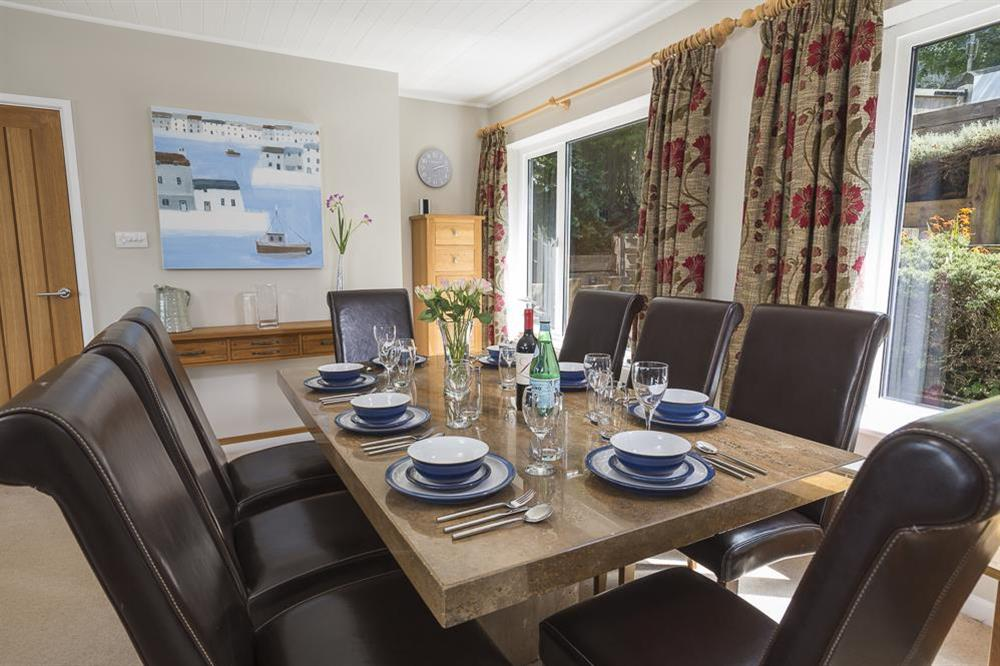 Dining table seating eight guests