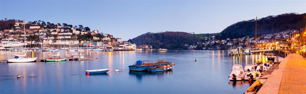 Pretty dusk views from Dartmouth across to Kingswear,  at 6 Lee Court, Dartmouth